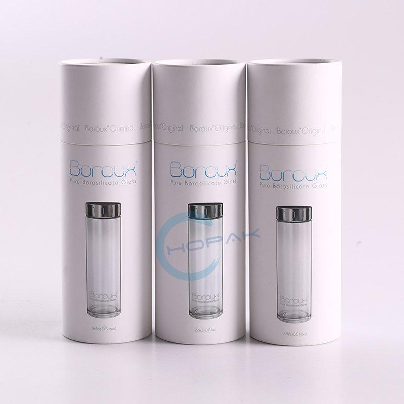 Custom Printed Cylinder Paper Cardboard Tubes Packaging For Glass Bottle