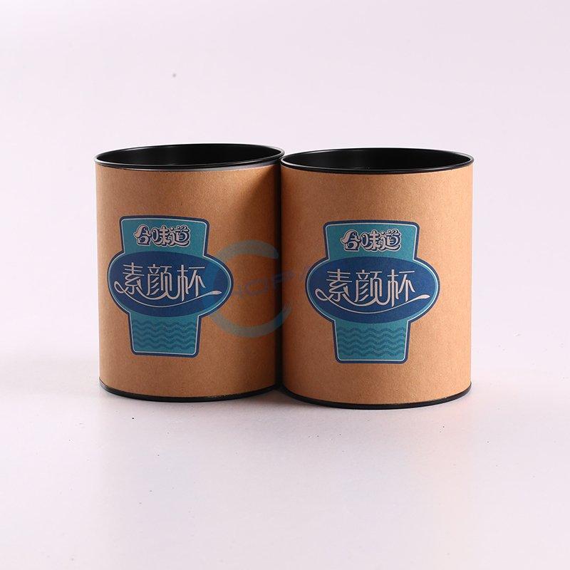 Printed Kraft Paper Cardboard Round Box for Noodles