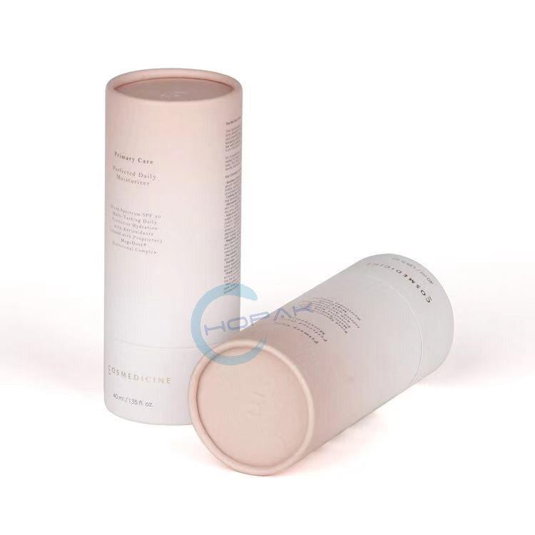 Premium Eco Friendly Round Cosmetic Recycled 3-piece Telescoping Tube