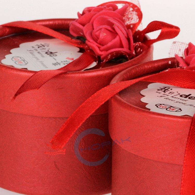 Fancy Cylinder Paper Wedding Scroll Invitation Tube