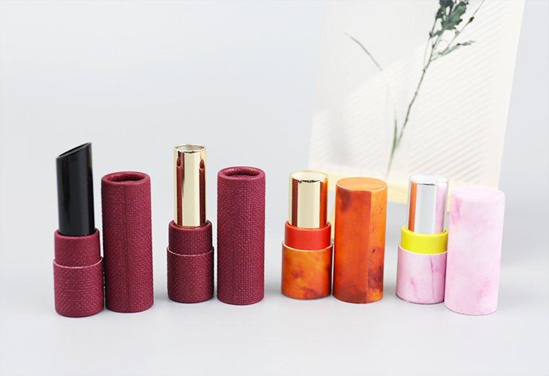 12.7mm empty Paper Lipstick Tube Packaging Pink Cosmetic Packaging Custom Lip Balm Packaging