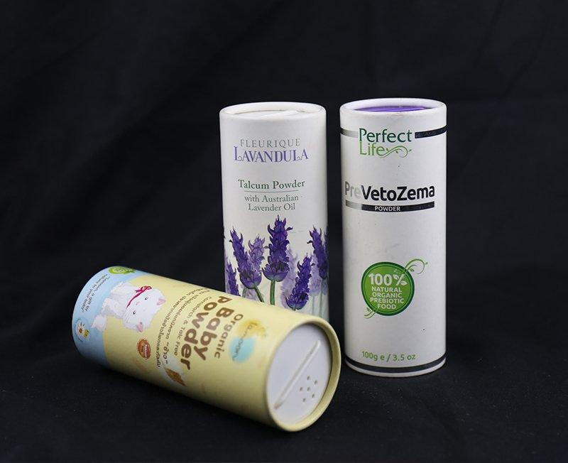 Loose Powder Cosmetic Cardboard Tube Ideas