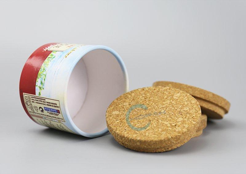 Custom Design Printing Cylinder Packaging Telescopic Salt Paper Tube