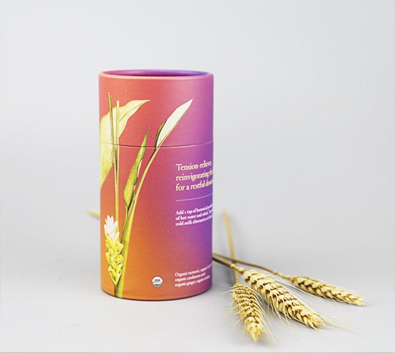 2-piece tea leaf tube packaging