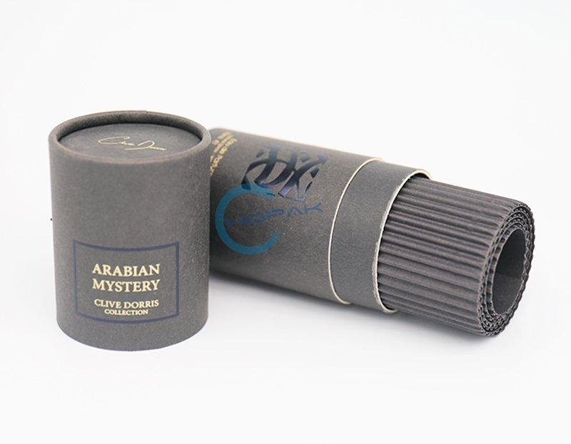 customized black paper tube for perfume (3)