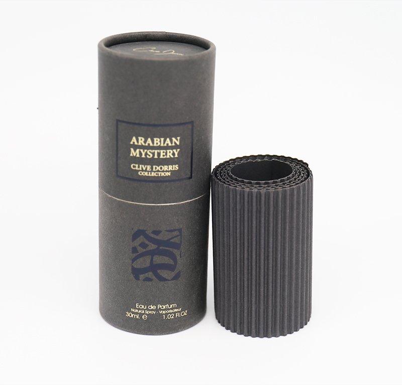 customized black paper tube for perfume