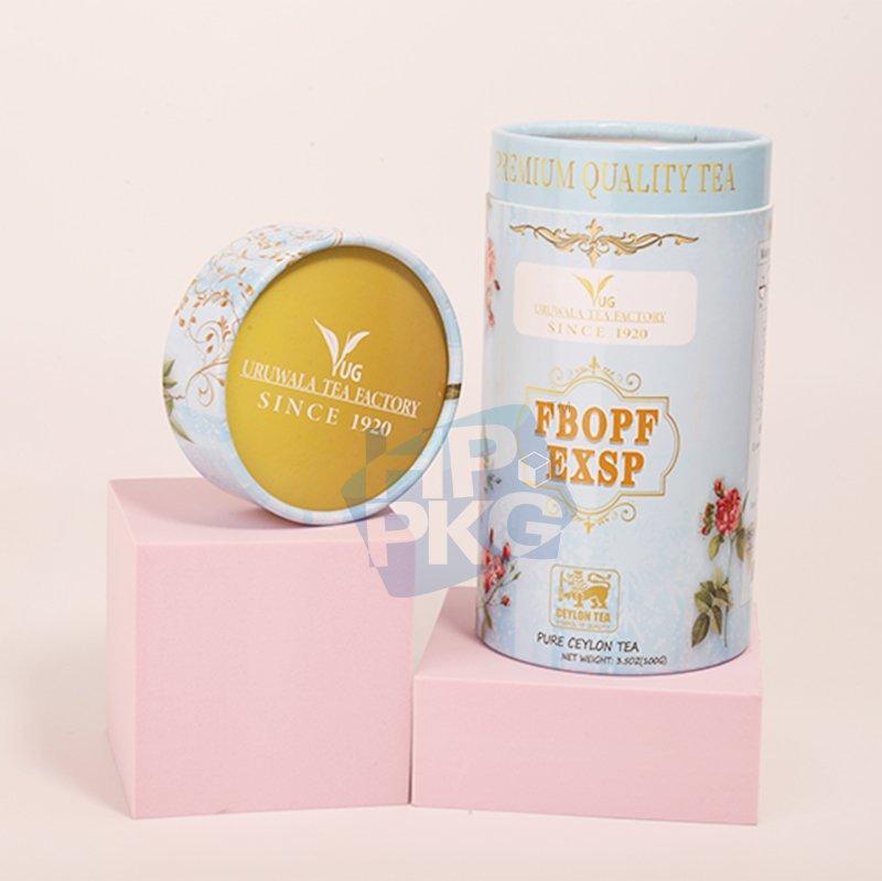 light blue tea paper tube packaging (2)