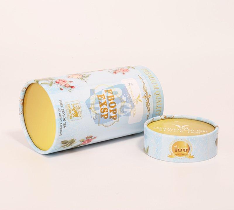 light blue tea paper tube packaging (3)