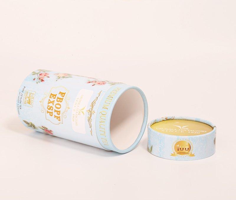 light blue tea paper tube packaging (4)