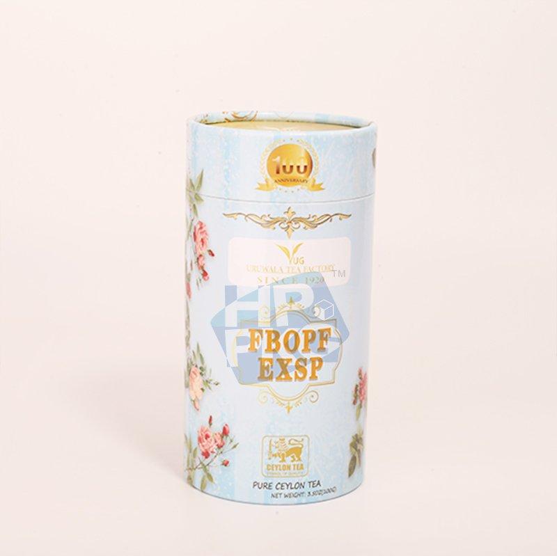 light blue tea paper tube packaging