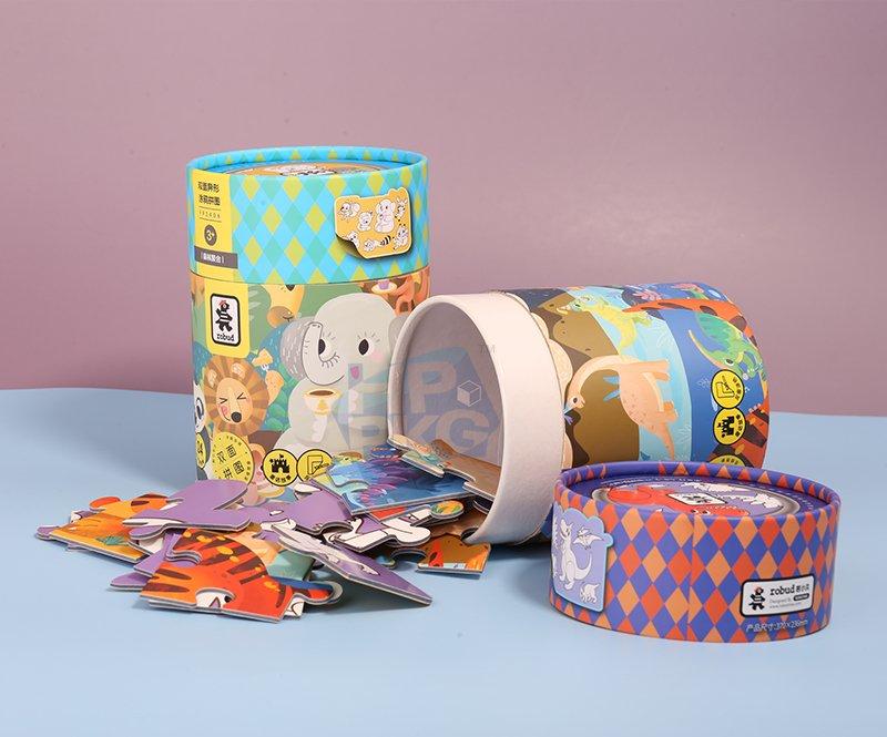 paper tube packaging for children Jigsaw (2)