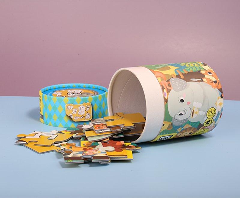paper tube packaging for children Jigsaw (4)