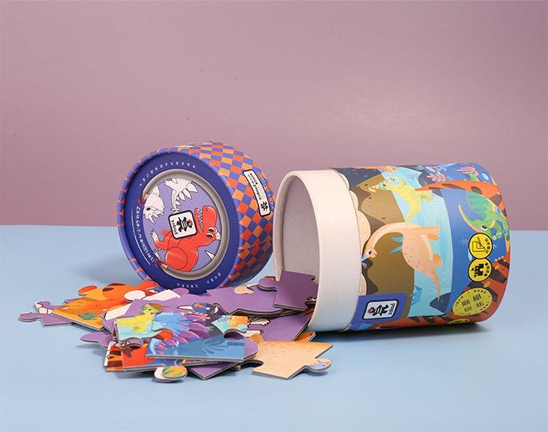 dinosaur paper tube packaging for children Jigsaw