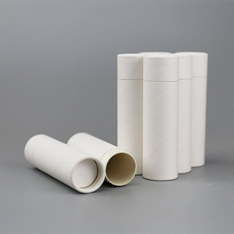 white cardboard push up tube