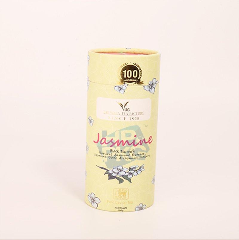 yellow tea paper tube packaging